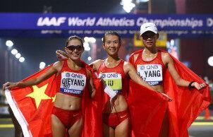 2019多哈田径世锦赛:中国包揽女子20公里竞走前三 刘虹夺冠