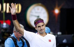 费德勒击败美国黑马桑德格伦 狂救赛点进澳网四强