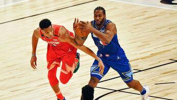 NBA:全明星赛詹姆斯队VS安特托昆博队