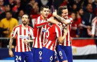 欧冠16强淘汰赛第一回合:马竞主场1-0利物浦