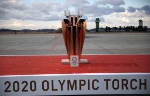东京奥运会圣火抵达日本